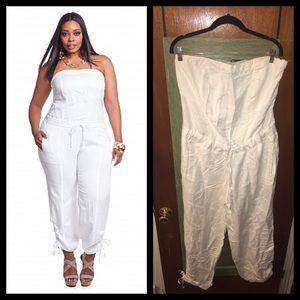 649639744f4f Ashley Stewart Pants - 💕On Hold For 1Hr‼️White Linen Jumpsuit